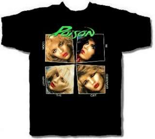 POISON cd cvr LOOK WHAT THE CAT DRAGGED IN Official SHIRT MED new