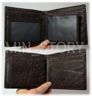 Vintage DRAGON MENS Genuine Leather BIFOLD WALLET Card PURSE
