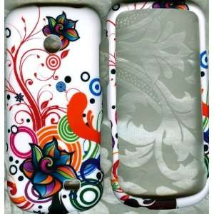 New Flower rubberized Samsung T528G Straight Talk Phone