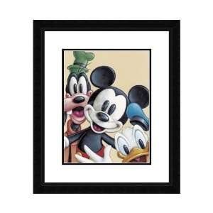 Disney Framed Art Mickey Donald & Goofy   Friends