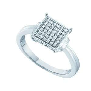 Sterling Silver 0.10 Dwt Diamond Micro Pave Set Ring