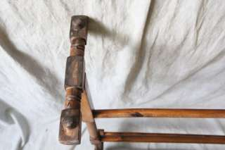 L314 ANTIQUE AMERICAN 19th CENTURY QUILT RACK BLANKET STAND
