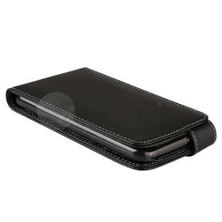 Black Flip Leather Case+Privacy LCD For HTC Inspire 4G