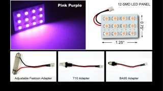 PIECES PURPLE 12 SMD DOME MAP INTERIOR LED LIGHTS
