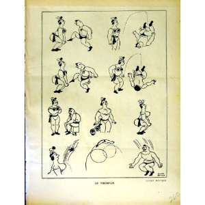 LE RIRE FRENCH HUMOR MAGAZINE MAN LADY WRESTLING SPORT: Home & Kitchen