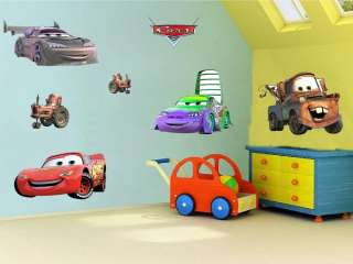 DISNEY CARS Vinyl Wall Sticker Decal   Set of 6 #002