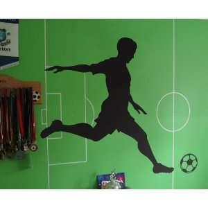 Wall Decal Custom Vinyl Art Stickers   Sports Soccer Player Kicking