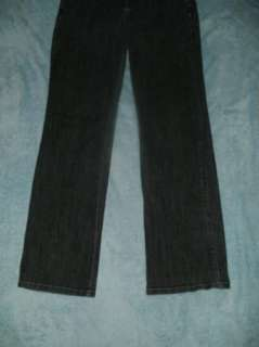 KRISTIN DAVIS 10 dk gray stretch LOW boot jeans 33x30.5