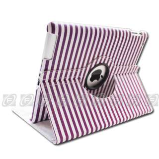 The new iPad 3/2 Magnetic Smart Cover PU Leather Case 360 Rotating