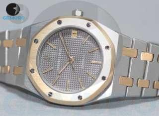 AUDEMARS PIGUET ROYAL OAK AUTOMATIC WATCH STEEL/ GOLD 18 K GREY DIAL