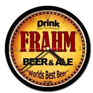 FRAHM beer and ale cerveza wall clock: Everything Else