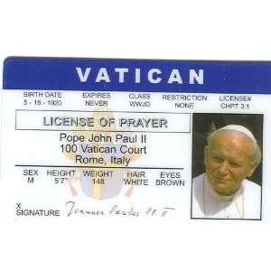 Pope John Pual II   Collector Card