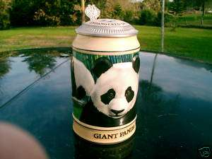 BUDWEISER ENDANGERED SPECIES GIANT PANDA STEIN 1992