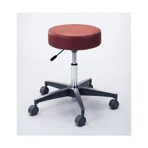 Pneumatic Height Adjustment and Aluminum Base Exam Stool   Burgundy