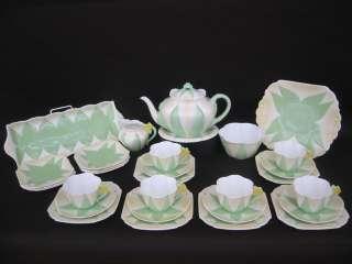 Dainty Green Star Art Deco Tea Ware Teapot Sandwich Set Trios Etc