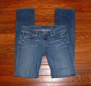 BEBE WOMENS LOW RISE STRAIGHT LEG STRETCH JEANS SIZE 28