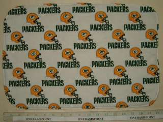 PLACEMAT MADE W GREEN BAY PACKERS NFL FABRIC PLACE MAT