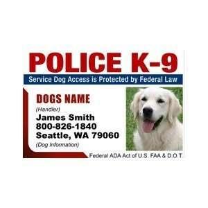 POLICE K9 ID Badge   1 Dogs Custom ID Badge   Design#2