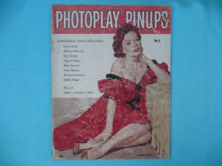 Photoplay Pinups Magazine No. 5 Marilyn Monroe Grace Kelly Kim Novak