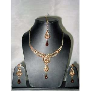 Fashion Jewelry Set Latest Costume Bollywood Polki Necklace Jewelry