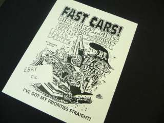 ED ROTH RAT FINK #93 FAST CARS BIKES GIRLS MUSIC POSTER
