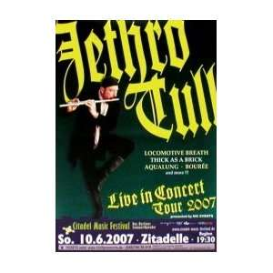 JETHRO TULL Live in Concert Tour 2007 Music Poster