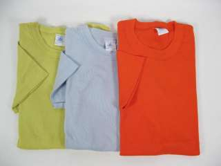 LOT 3 PETITE BATEAU Orange Blue & Green T Shirts Tops S