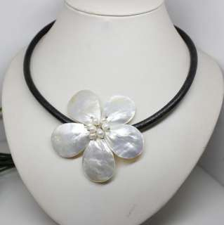 black chain white shell mother of pearl white pearl necklace choker