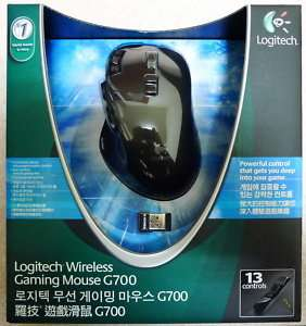 New Logitech G700 Laser Wireless PC Gaming Mouse