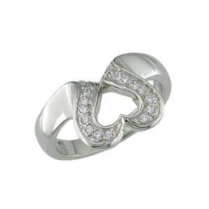 Fior   size 12.25 14K White Gold Heart Shape Ring Jewelry