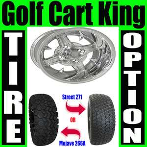 Lifted Golf Cart 23 Tire and 12 Wheel Combo Lift Kit   RHOX Impaler