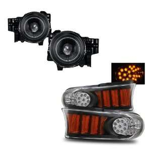 07 10 Toyota FJ Cruiser Black CCFL Projector Headlights + LED Parking