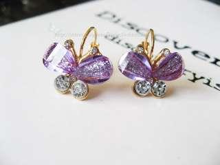 Korean Womens Fashion Elegant Crystal Butterfly Girls Bridal Party