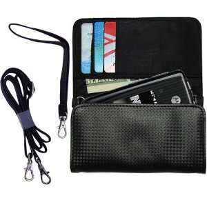 Black Purse Hand Bag Case for the Motorola Sable with both