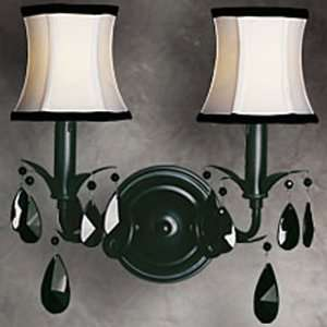 LJW42034 Black Paris Multi Light Wall Sconce from the Paris Collection
