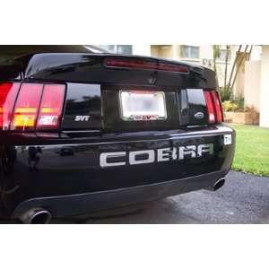 Ford Mustang COBRA stainless steel bumper insert lettering