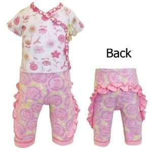 Baby Lulu Rose Bud Baby Girls Ruffle Pant Baby