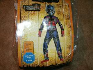 HALLOWEEN boys TRANSFORMERS OPTIMUS PRIME COSTUME sz M MEDIUM 7 8