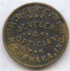 Higgins Jeweler Optician Mishawaka, Indiana/ Spectacles Civil War