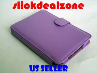 NEW PREMIUM PURPLE PU LEATHER CASE COVER FOR  KINDLE 4