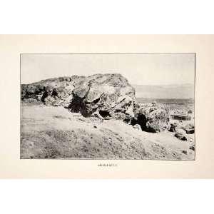 1909 Print Areopagus Areios Pagos Rock Ares Athens Greece