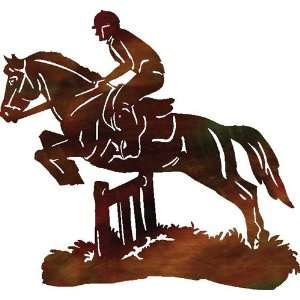 The Jump Horse Riding Metal Wall Art Home & Kitchen
