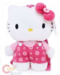 Sanrio Hello Kitty 16 Plush Backpack/Bag Pink Flowers