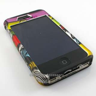 Funky Stripes Rubberized Hard Case Cover for Apple iPhone 4S NEW