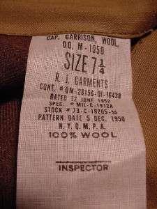 100% WOOL GARRISON CAP / HAT UNISSUED SIZE 7 1/4