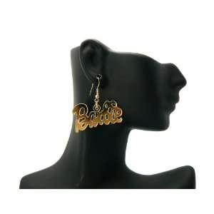 New NICKI MINAJ BARBIE Hook Mirror Polished Gold Earring