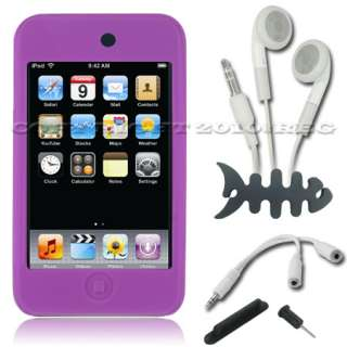 PURPLE SILICONE CASE COVER SKIN SLEEVE FOR APPLE IPOD TOUCH 2 2ND 3 3G