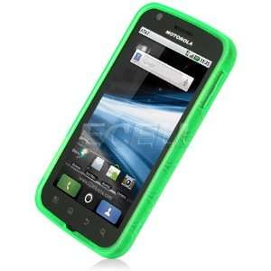 Ecell   GREEN SILICONE RUBBER GEL CASE FOR MOTOROLA ATRIX