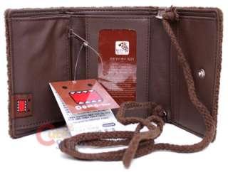 Domo Kun Plush Wallet w/Strap NHK Licensed Classic
