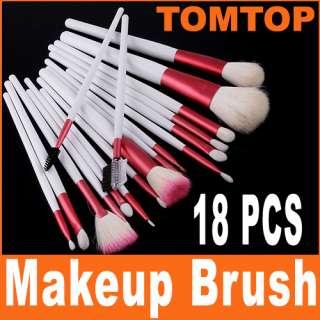 New 18 PCS Eyeshadow Brusher Makeup Brush Set Kit+Case